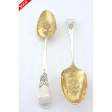 Pair of Silver Berry Spoons – George III 1784