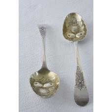 Pair of Georgian Silver Berry Spoons 1782