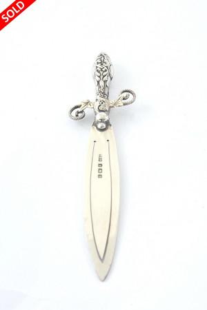 Edwardian Silver Bookmark (Sword) 1904