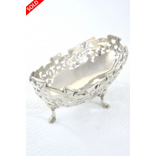 George V Pierced Oval Silver Bowl 1911