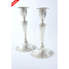 Pair of Edwardian Silver Candlesticks 1905