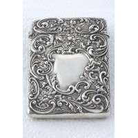Edwardian Silver Card Case 1905