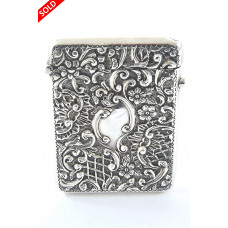 Edwardian Silver Card Case 1904