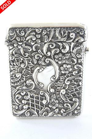 Edwardian Silver Card Case 1904