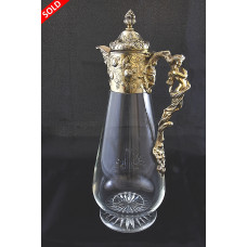 Victorian Silver Gilt Mounted Claret Jug – Mappin & Web 1888