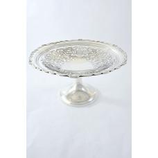 Edwardian Silver Pedestal Fruit Dish 1903