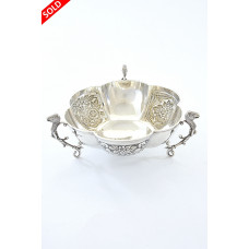 Edwardian Silver Embossed Dish 1903