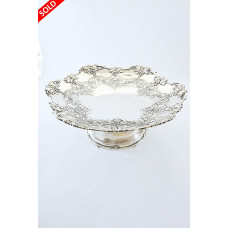 Large Silver Pedestal Fruit Dish 1928