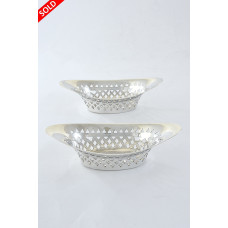 Pair of Victorian Pierced Silver Dishes 1897