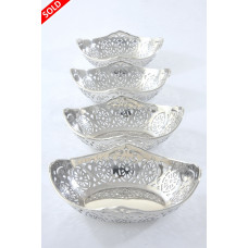 Set of Four Antique Silver Dishes 1918