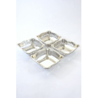 Set of Four Silver Bonbon Dishes 1928