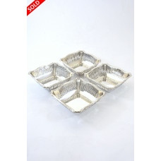 Set of Four Silver Bonbon Dishes 1928
