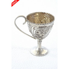 Edwardian Silver Egg Cup 1901