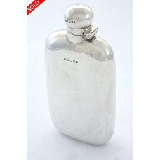 Victorian Silver Hip Flask 1898