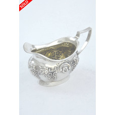 Antique Silver Cream Jug – Edwardian 1905
