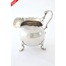 Edwardian Silver Cream Jug 1907
