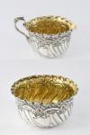 Antique Silver Cream Jug & Sugar Bowl 1892/3