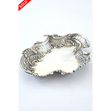 Pierced & Embossed Silver Pin Tray 1917