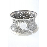 Edwardian Large Irish Silver Dish Ring 1908