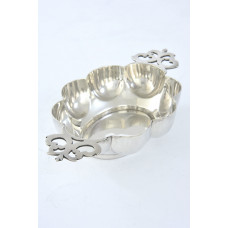 Edwardian Ornate Silver Quaich 1905