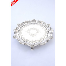 Antique Silver Salver 1912