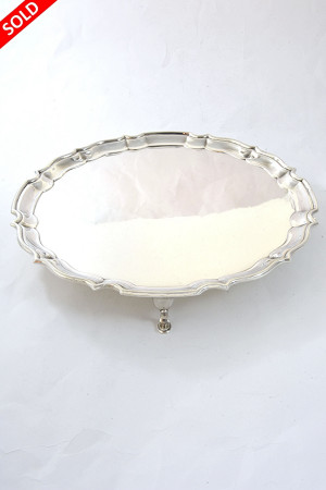 Large George V Silver Salver 1938