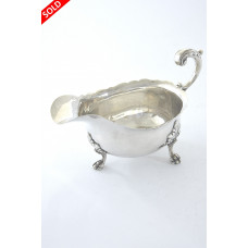 Edwardian Silver Sauce Boat – Chester 1902