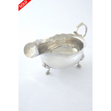 Edwardian Silver Sauce Boat – Chester 1907