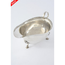 Antique Silver Sauce Boat 1912