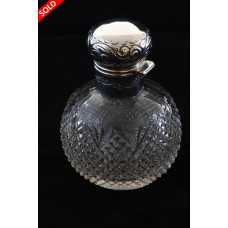 Edwardian Silver Mounted Perfume Bottle 1902