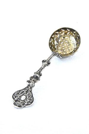 Rare Victorian Silver Sugar Sifter Spoon 1884