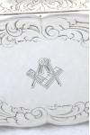 Victorian Silver Snuff Box 1855 – Masonic Engraving