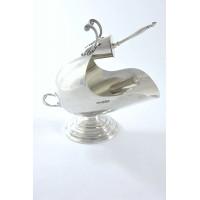 Rare Victorian Silver Sugar Scuttle & Scoop 1899