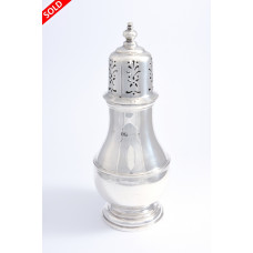 Large Solid Silver Sugar Shaker 1924