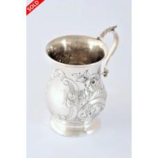 Antique Silver Christening Tankard – Chester 1898