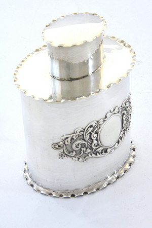 Victorian Silver Tea Caddy 1899