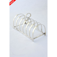 Antique Silver Toast Rack (6 Slice) 1929