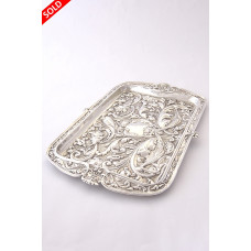 Edwardian Silver Dressing Table Tray 1905