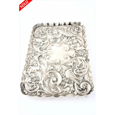 Antique Silver Dressing Table Tray 1912