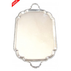 Large Twin Handled Sterling Silver Tray 1925