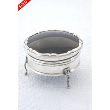 Antique Silver & Tortoiseshell Trinket Box 1920