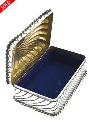 Victorian Silver Trinket Box 1888