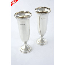 Pair of Silver Posy Vases 1922