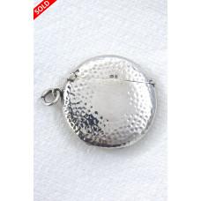 Edwardian Silver Round Vesta Case 1903