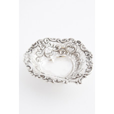 Victorian Heart Shaped Solid Silver Dish 1901