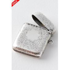 Antique Silver Vesta Case 1895